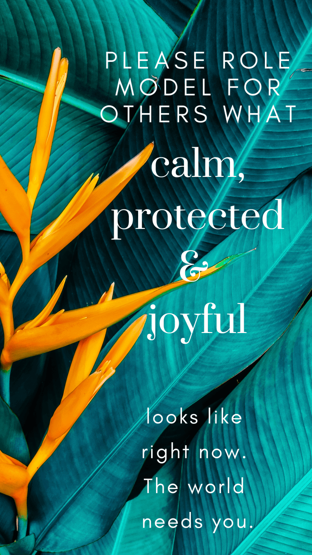 rolemodel calm, protected and joyful during Coronavirus
